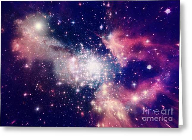 Stars Of A Planet And Galaxy In A Free Greeting Card
