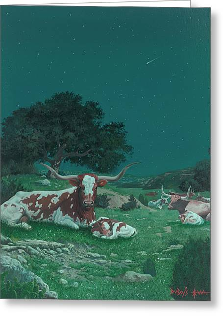 Stars Over Texas Greeting Card