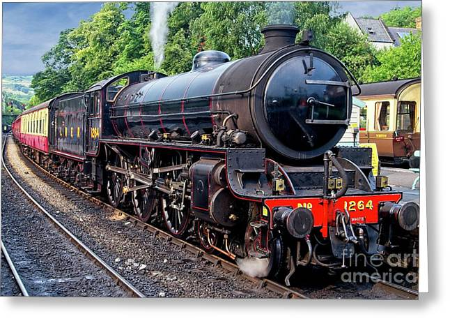 Steam Locomotive 1264 Nymr Greeting Card