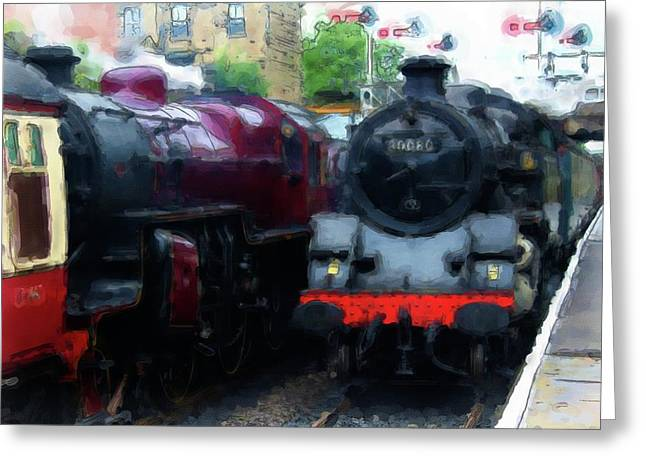 Steam Trains Greeting Card