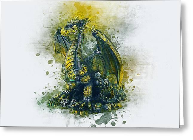 Steampunk Dragon Greeting Card