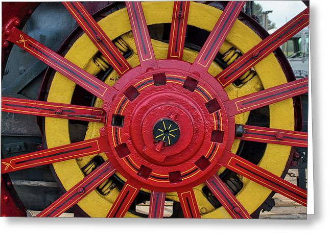 Greeting Card featuring the photograph Steele Power Wheel by Mark Dodd