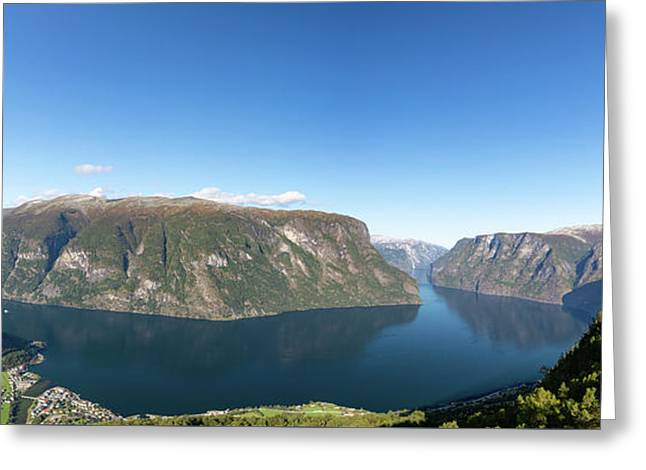 Greeting Card featuring the photograph Stegastein, Norway by Andreas Levi