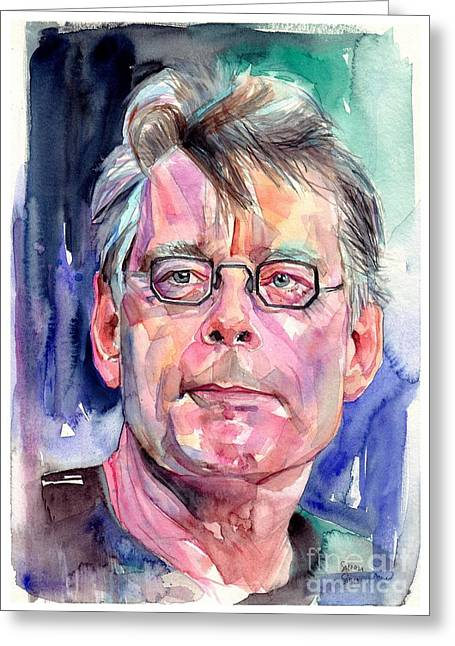 Stephen King Portrait Greeting Card