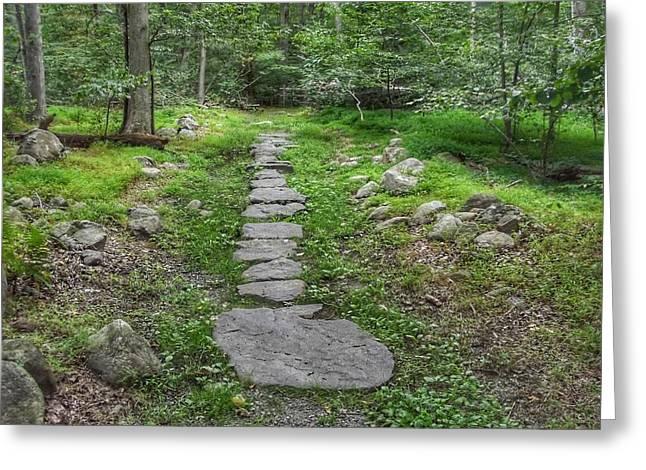 Stepping Stone Path - Kinnelon Greeting Card