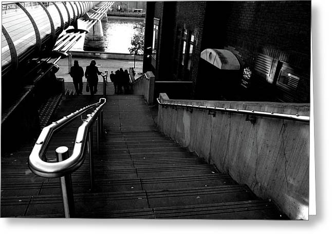 Greeting Card featuring the photograph Steps by Edward Lee