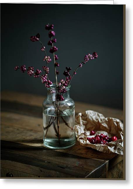 Still Life With Berries Greeting Card