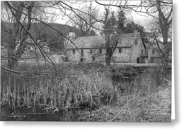 Stone And Reeds - Waterloo Village Greeting Card