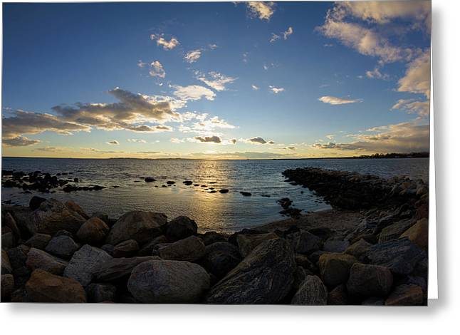 Stonington Point On The Rocks - Stonington Ct Greeting Card