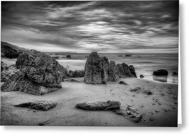 Greeting Card featuring the photograph Storm At Leo Carrillo by John Rodrigues