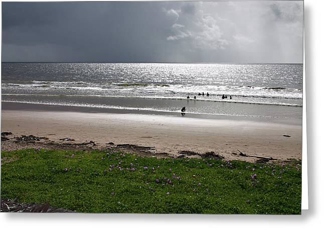 Storm Brewing Over The Sea Greeting Card