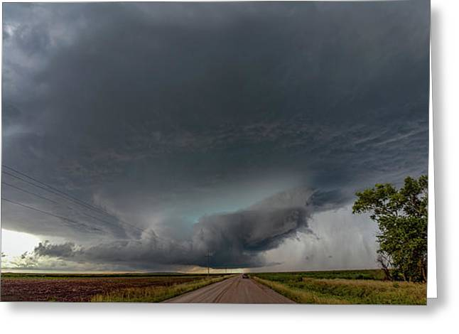 Storm Chasin In Nader Alley 008 Greeting Card