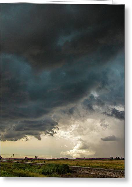 Greeting Card featuring the photograph Storm Chasin In Nader Alley 012 by NebraskaSC