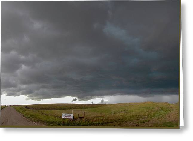 Greeting Card featuring the photograph Storm Chasin In Nader Alley 016 by NebraskaSC