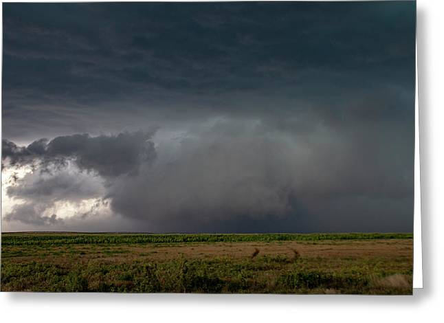 Storm Chasin In Nader Alley 030 Greeting Card