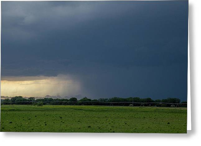 Greeting Card featuring the photograph Storm Chasing West South Central Nebraska 002 by Dale Kaminski