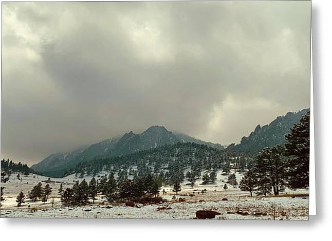 Storm Clearing Over Flatirons Greeting Card