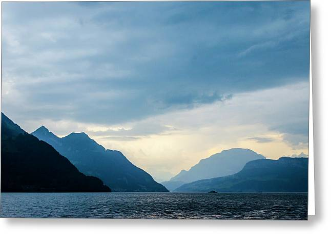 Storm Clouds On Lake Lucerne Greeting Card