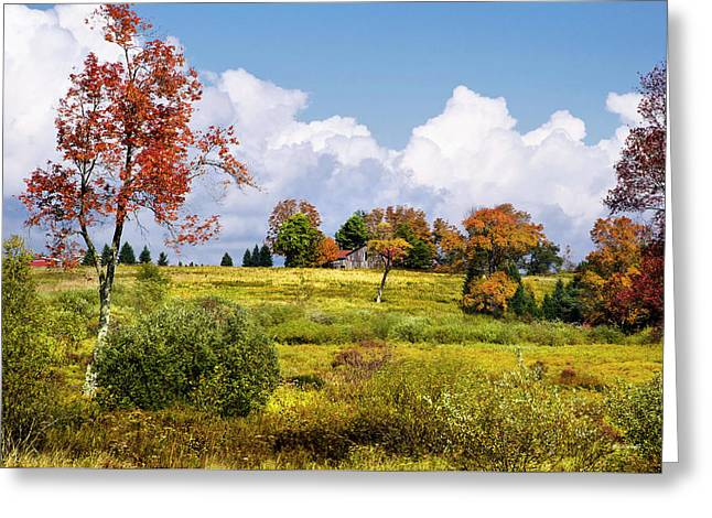 Greeting Card featuring the photograph Storm Clouds Over Country Landscape by Christina Rollo