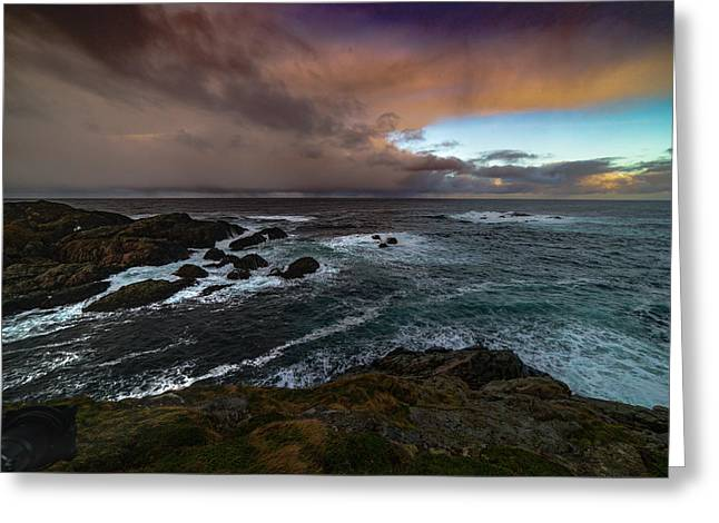 Storm Coastline Greeting Card