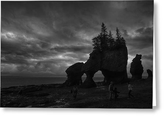 Storm Over Fundy Greeting Card