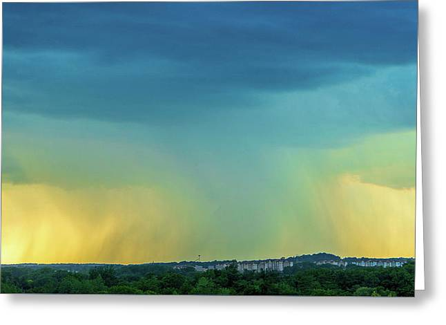 Storm Over Spring View Apartments Greeting Card