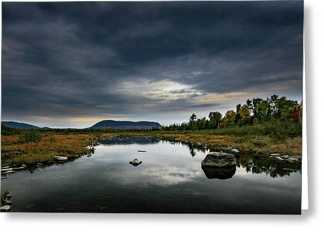 Stormy Day In Maine Greeting Card