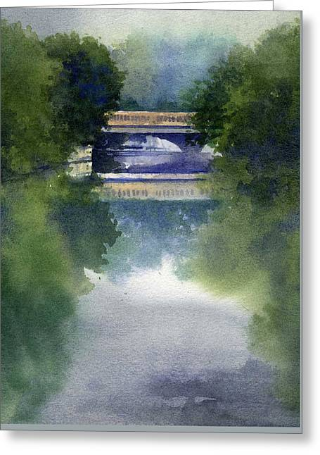 Stormy Day On Bridge Road Greeting Card