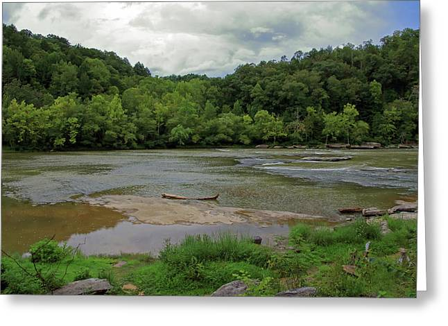 Greeting Card featuring the photograph Stormy Evening At The River by Angela Murdock