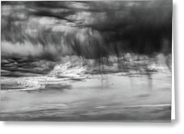 Stormy Sky In Black And White Greeting Card