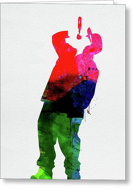 Straight Outta Compton Watercolor Greeting Card