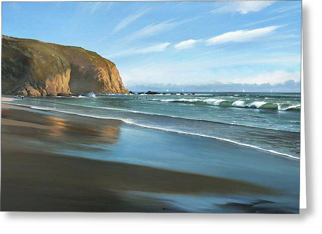 Strands Beach Dana Point Oil Painting Greeting Card