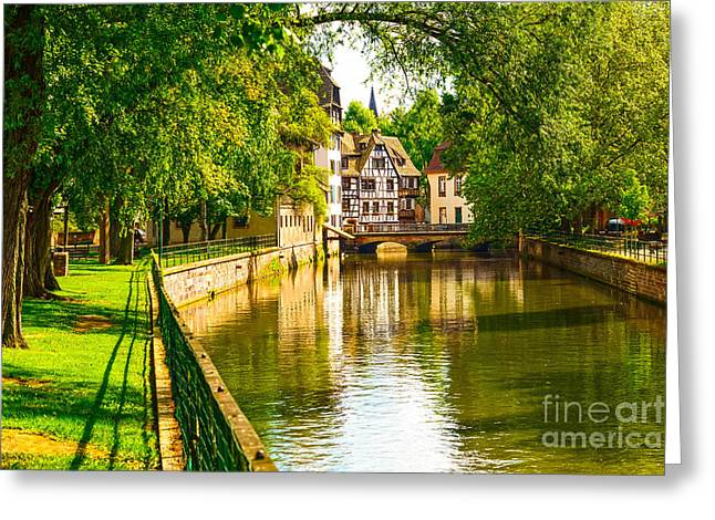 Strasbourg, Water Canal In Petite Greeting Card