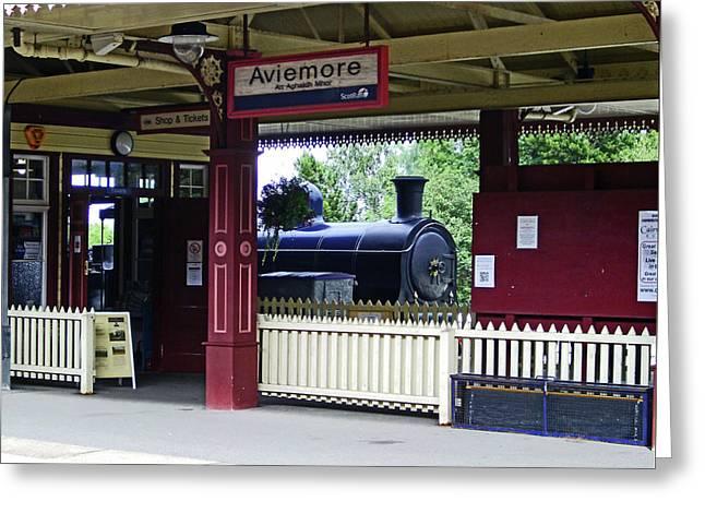Strathspey Railway. Caladonian Railway 828 Greeting Card
