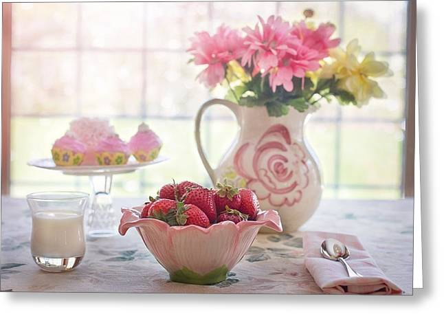 Strawberry Breakfast Greeting Card
