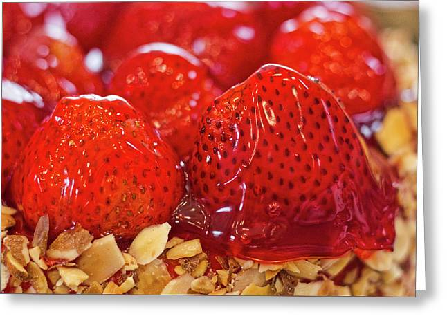 Greeting Card featuring the photograph Strawberry Glaze by Randy Bayne