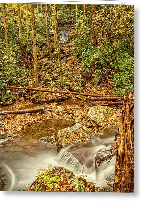 Greeting Card featuring the photograph Stream Waterfalls by Meta Gatschenberger