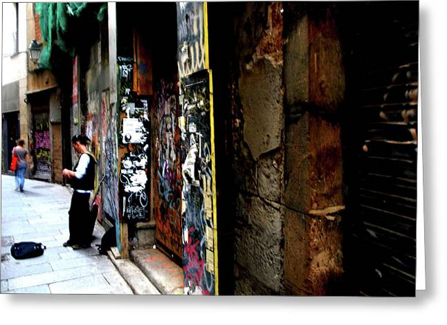 Greeting Card featuring the photograph Street, Graffiti  by Edward Lee