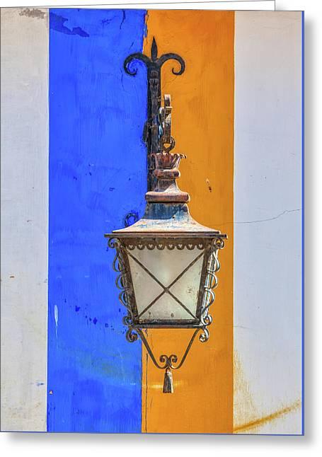 Street Lamp Of Obidos Greeting Card
