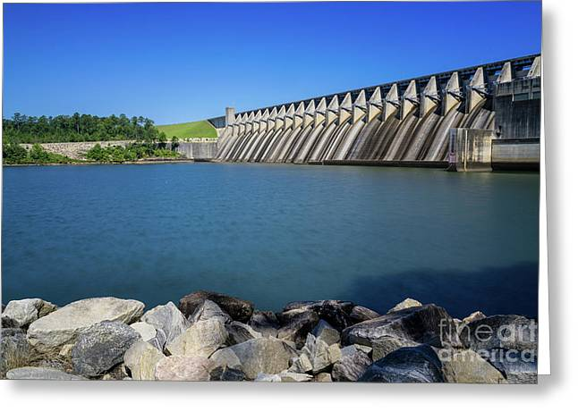 Strom Thurmond Dam - Clarks Hill Lake Ga Greeting Card