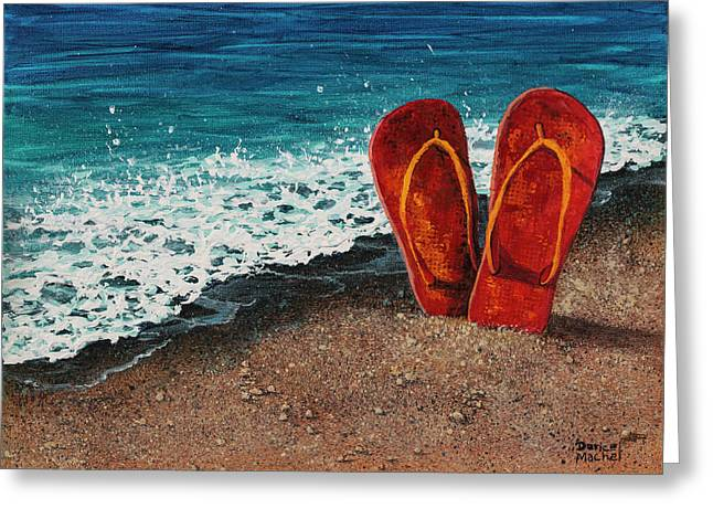 Greeting Card featuring the painting Stuck In The Sand by Darice Machel McGuire