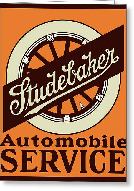 Studebaker Auto Sign Greeting Card