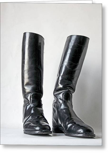 Studio. Riding Boots. Greeting Card