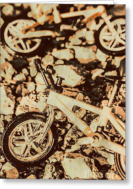 Stunt Bike Country Greeting Card
