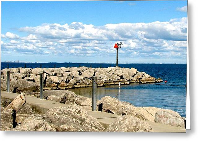 Sturgeon Point Marina On Lake Erie Greeting Card
