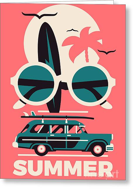 Stylish Vector Concept Design On Greeting Card