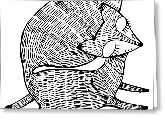 Stylized Fox. Forest Animals. Cute Fox Greeting Card