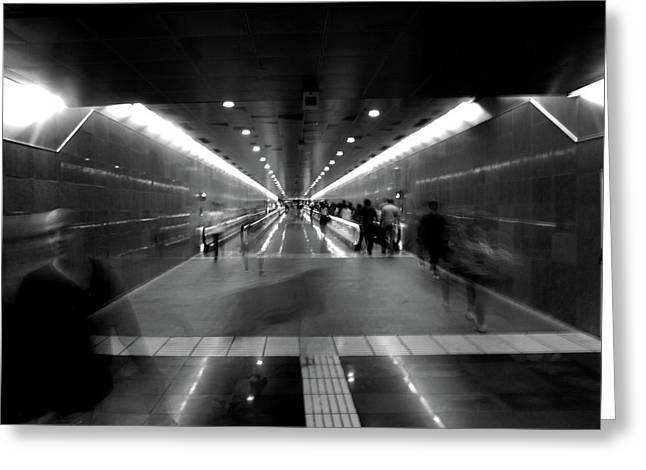 Subway Ghosts Greeting Card