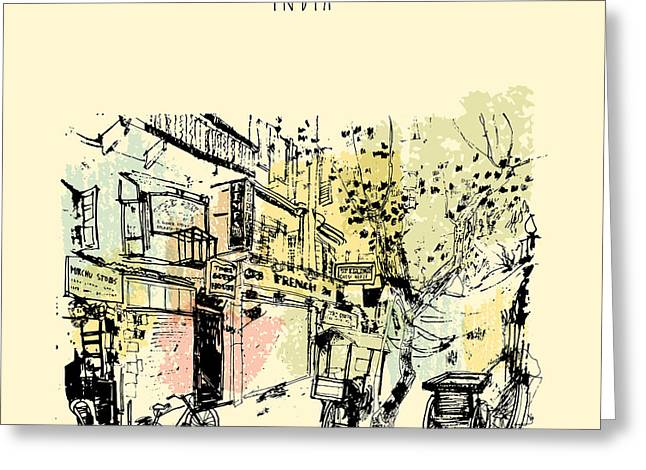 Sudder Street In Calcutta, West Bengal Greeting Card