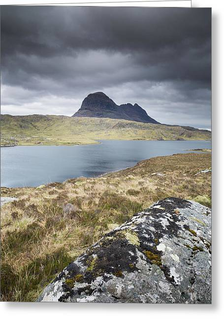Suilven On A Stormy Day Greeting Card